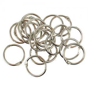 1226217 Кольца для творчества `Серебро`, набор 20 шт, d=2 см - Кольца для альбомов - Расходные материалы - Скрапбукинг магазин MagicScrap